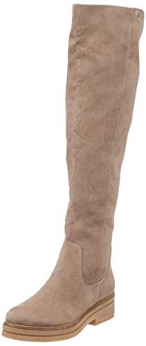 Tamaris 1-1-25569-39 Damen Stiefel, Overknee, Boot, Winterstiefel, Herbstschuh für die modebewusste Frau, funktionaler Reißverschluss beige (Dune), EU 38