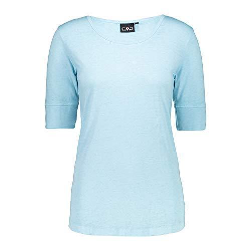 CMP T-Shirt Shirt Woman T-Shirt HELLBLAU ATMUNGSAKTIV SCHNELLTROCKNEND (38)