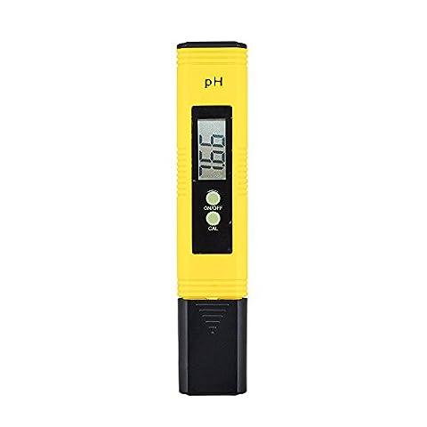 Zilong Digital pH Meter Messgerät, ph wert tester Messer Für Wasser, Aquarium, Pools, Schwimmbad, Labor, mit 0,00-14,00 pH Messbereich
