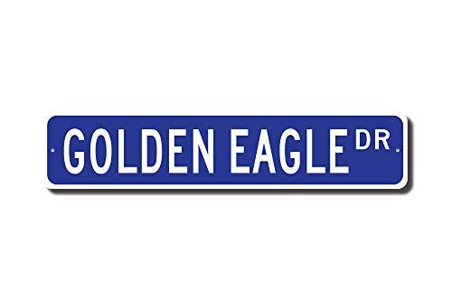 C-US-lmf379581 Golden Eagle Golden Eagle Schild Golden Eagle Schild Golden Eagle Decor Golden Eagle Lover Custom Street Sign Qualitäts-Metallschild -