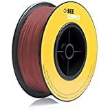 BEEVERYCREATIVE CBA110351 BEESUPPLY PLA Filament für 3D Drucker, 1,75 mm, 330 g, A106, Verkehrsrot - gut und günstig