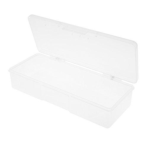 Domybest 1pièce Manucure Bijoux de stockage boîte Plastique pour DIY Home clair de cuisine outils
