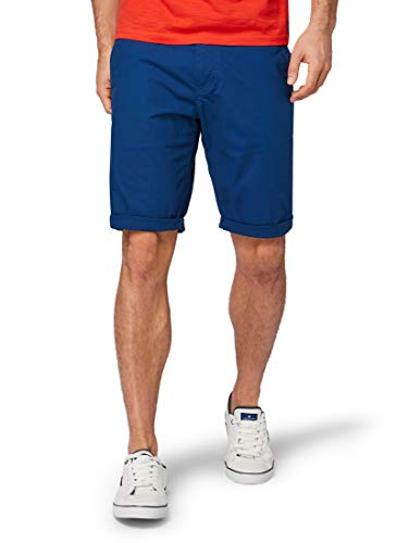 TOM TAILOR für Männer Hosen & Chino Josh Regular Slim Chino-Shorts After Dark Blue, 38