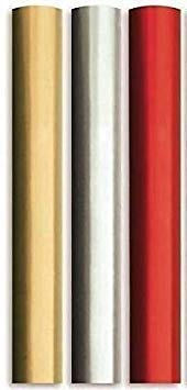 6 Meter Plain Metallic Foil Effect Wrapping Paper 3x2 Meter Roll Silver Red Gold Wedding Birthday Present Festive Decoration