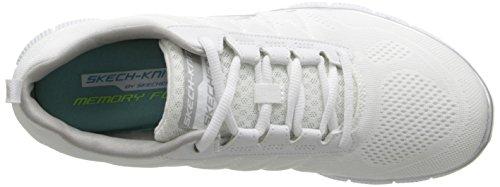 Skechers Flex Appealsweet Spot, Sneakers Basses Femme Blanc (Wsl)