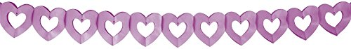 Guirlande coeur papier 3.60 m-lilas
