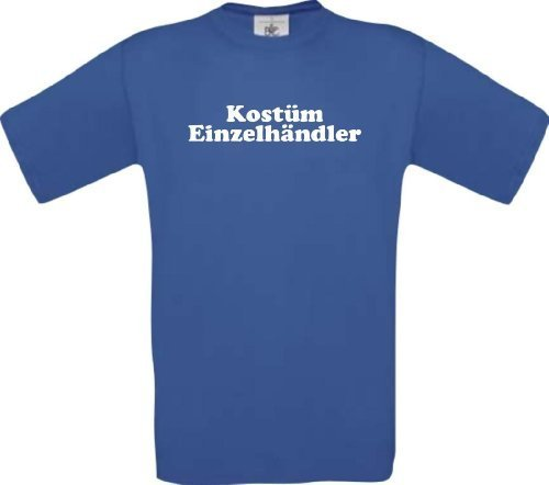ShirtInStyle T-Shirt Kostüm Einzelhändler Karneval Fasching Kostüm Verkleidung, Farbe royal, Größe XXL (Kostüme Einzelhändler)