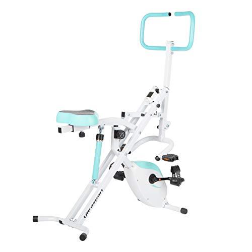 Ultrasport Hometrainer F-Rider 2 in 1; inklusive F-Bike, Sportgerät zum Ganzkörpertraining für, idealer Cardiotrainer, belastbar bis 110 kg, Mint