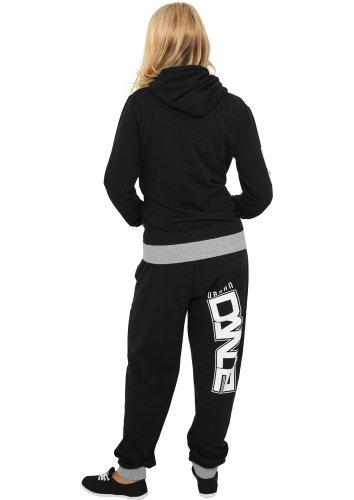 UD040 udance contrast pantalon de jogging pour femme fitness Noir/blanc