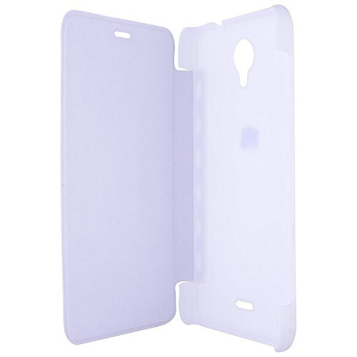 TfPro Bell Premium Leather Finish Flip Case Cover for Micromax A46- White