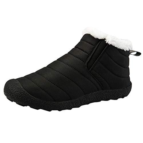 MISSQQStivaletti Uomo Stivali Flat Invernali con Fodera in Pelo Scarpe Inverno Comodi Leggeri e Antiscivolo Scarpe Sportive