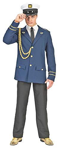 Jacke Für Kostüm Offizier Navy Erwachsene - Pierro's Karnevalshop Marine Kapitän Jack Kostüm - Blau Gold - Gr. 56 58