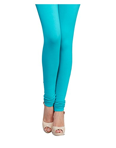Yepme Women's Blue Blended Leggings - YPMLGGN5037_M  available at amazon for Rs.179