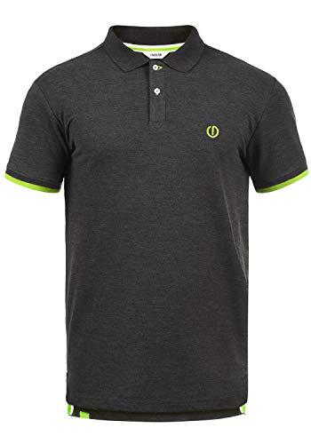 !Solid BenjaminPolo Herren Poloshirt Polohemd T-Shirt Shirt Mit Polokragen, Größe:XXL, Farbe:Dark Grey Melange (N8288) - Herren Pique Polo Solid