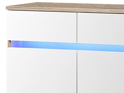"Kommode Sideboard Anrichte TV-Lowboard Lowboard in inkl. Beleuchtung ""Light"" (Kommode (60039) 69 x 108 x 34 cm) - 4"