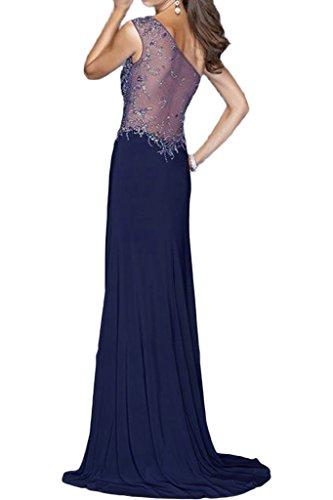 ivyd ressing robe moderne d'une robe d'épaule fente pierres perles party prom Lave-vaisselle robe robe du soir Violet