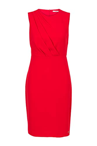 Steps Damen Kleid Einfarbig Rot Festlich Bequem Modisch Racingred, 040