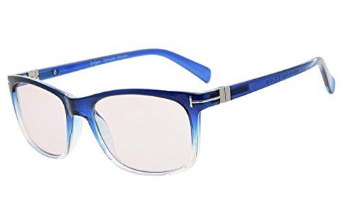 Eyekepper Mode Lesebrille mit UV-Schutz,Anti reflex Lesegeräte für Computer,Gelb getönte Gläser (Blau, 1.00)