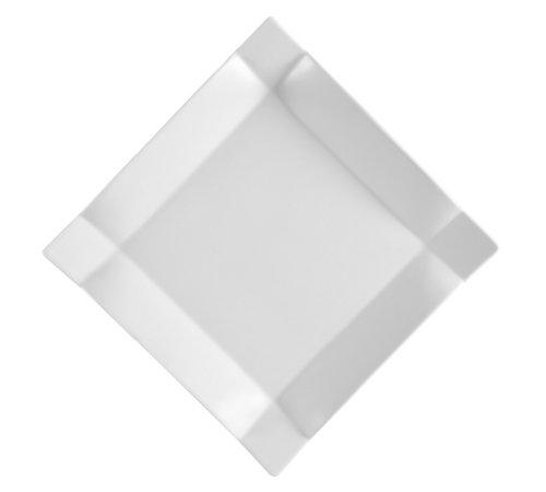 CAC China Times Square Porzellan-Teller, quadratisch, Weiß 10-Inch Super white; bright white - Weiße Teller, China Quadratische