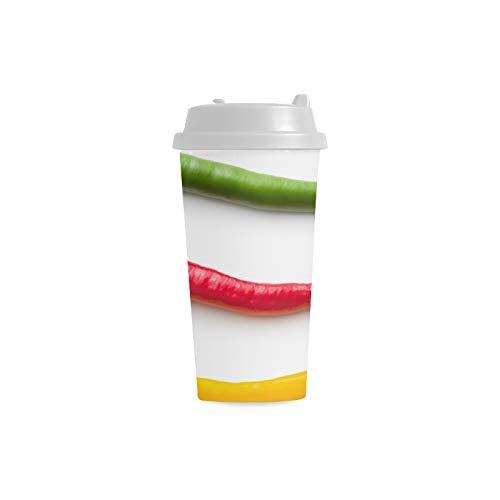 Chill Red Peperoncino piccante Personalizzato Stampa 16 Oz Bicchieri a doppia parete in plastica isolati sport bottiglia acqua Pendolari tazze caffè viaggio per le donne studente Latte bicchier