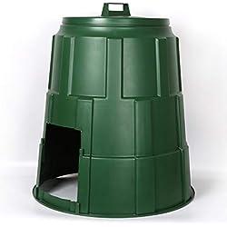 GGYSSY Production de bacs à Compost Solide, Grande unité de compostage cylindrique, convertisseur de Compost de Jardin, dispositifs de Protection du Sol, Vert,150L