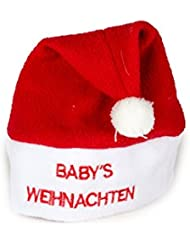 Weihnachtsmütze Nikolausmütze Baby Mütze Rot ( Babys Weihnachten ) Fleece Warm X65
