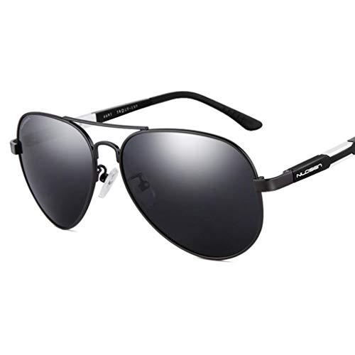 Classic Aviator Sunglasses, Polarized, UV400 Augenschutz, Men & Women Fashion Driving Glasses Black Frame - Gray Lens