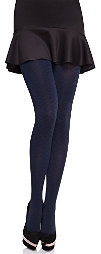 Merry Style Damen blickdichte Strumpfhose MS 395 80 DEN (Navy, L)