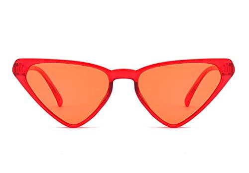 Aienid Sonnenbrille Damen Pc Dreieck Wine Rot Sonnenbrille Für Frauen