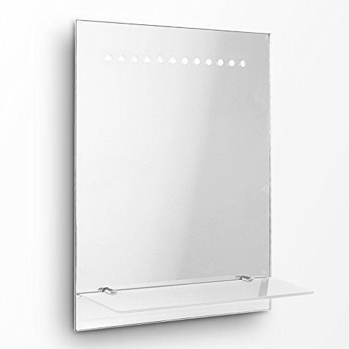 Specchio moderno e sottile con luci LED da parete per il bagno ...
