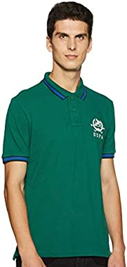 US Polo Association Men's Solid T-Shirt (USTS6168_Galapagos Gr_L