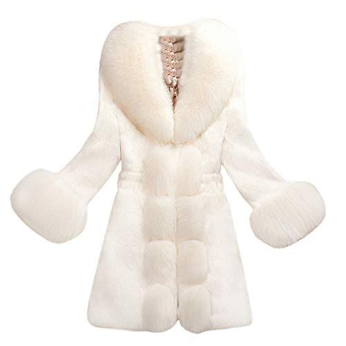 Frauen Kurzmantel Damen Long Outwear Schlank Faux Pelzmantel Dicke Warme Mode Oberbekleidung Lange Gefälschte Pelzjacke Moonuy
