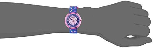 Flik Flak Mädchen Analog Quarz Uhr mit Stoff Armband FPNP016 - 4