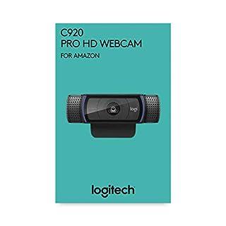 Logitech C920 HD Pro Webcam, Appels Vidéo Full HD 1080p à 30ips, Son Stéréo, Correction d'Éclairage HD, Compatible avec SkypeTM, Google HangoutsTM, FaceTime, Pour Gamer, Portable/PC/Mac/Android - Noir (B07QZZS7S1)   Amazon price tracker / tracking, Amazon price history charts, Amazon price watches, Amazon price drop alerts