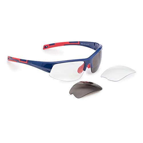 Bifokal Sportbrille mit Wechselgläsern (Stärke +2,50dpt)