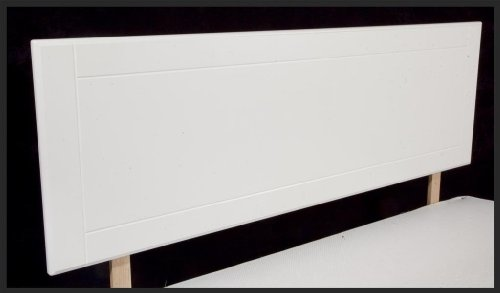 5' King Size Wooden Headboard - White