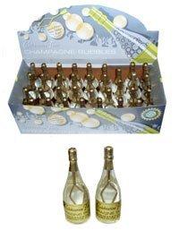 Champagne Bottle 9cm Bubbles 36/Pack - Gold (X01947)
