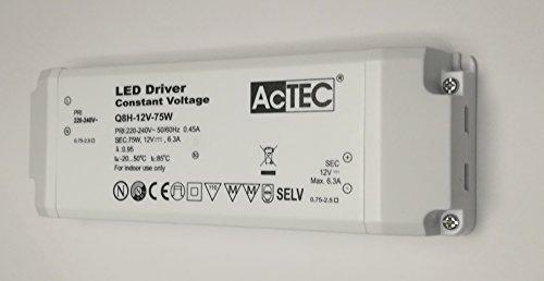 Netzteil Trafo für LED actec mit Klemmleiste CV MODE 12V 75Watt Spannung konstant Elektronischer Trafo 12v 75w