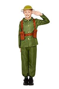 Smiffys 47744L WW1 - Disfraz de soldado unisex para niños