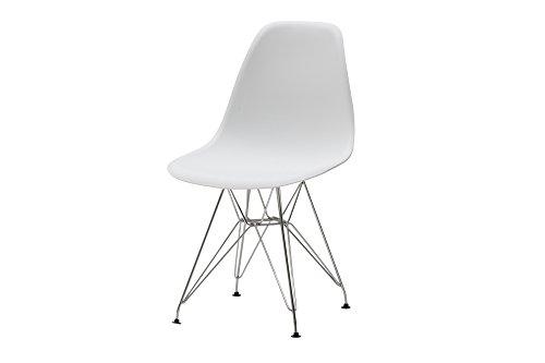 White loft lf476 set di 4 sedie, metallo, bianco, 47x52x81,5 cm, 4 unità