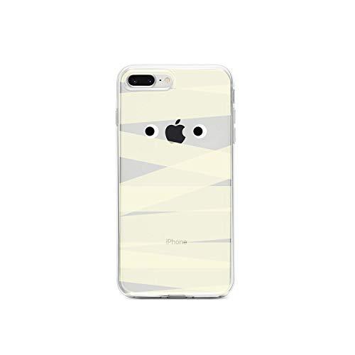 DistinctInk Klar Stoß- Hybrid-Fall für iPhone iPhone 7 Plus / 8 Plus TPU Auto, Acryl Zurück, ausgeglichene Glas-Schirm-Schutz Halloween-Mama auf Clear Case (Individuell Bedruckte Taschen Halloween)