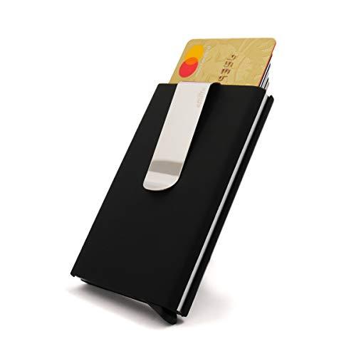 Effilife Porta Carte di Credito/Anti-RFID Slim & Smart Magic Wallet, Uomo o Donna, L'ambitieux, Nero.