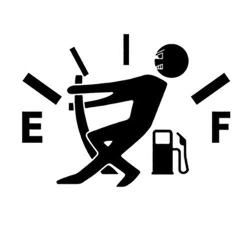 ERTUE Home Auto Aufkleber 12 * 9 cm Lustige Pull Kraftstofftank Zeiger wasserdichte Kraftstofftank Aufkleber Auto Dekoration (Size : Black) -