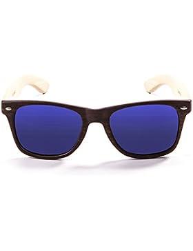 Ocean Sunglasses beach wood - gafas de sol de Bambú - Montura : Bambú - Lentes : Azul Espejo (50001.2)