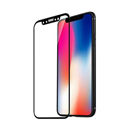 Panzerglas Schutzfolie Film,3D Curved Tempered Glass for iPhone XS Max XR X 8 Plus 7 Plus 6 6S Plus 6Plus 9H Carbon Fiber Soft Edge Screen Protector Film for iPhone XS Max Black