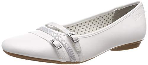 s.Oliver Damen 5-5-22110-22 100 Geschlossene Ballerinas, Weiß (White 100), 40 EU