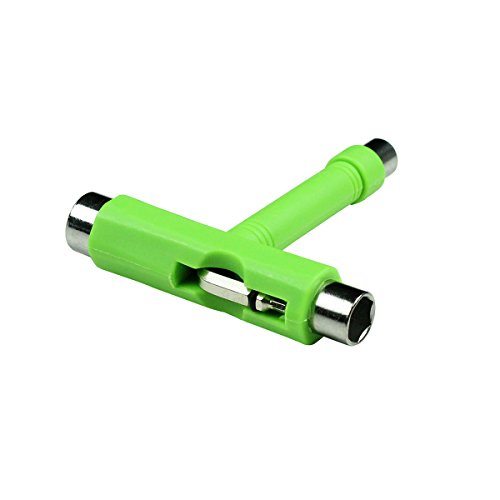 Skate T Werkzeug Skateboard Scooter Longboard Tools Kick Scooter Mini T Schraubenschlüssel grün grün