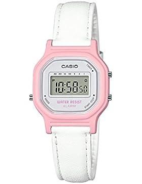 Casio Reloj 'Classic' resina de cuarzo Casual para Mujer, color: blanco (modelo: la-11wl-4acf)