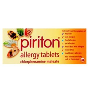 PIRITON allergy tablets 4mg