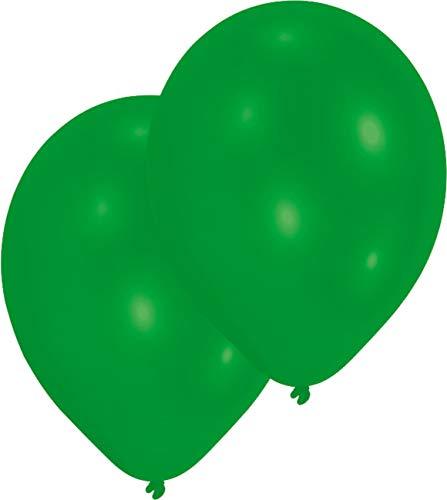 Amscan 27.5 cm 10 Luftballons, Grün